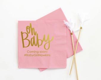 Girl Baby Shower Napkins ...