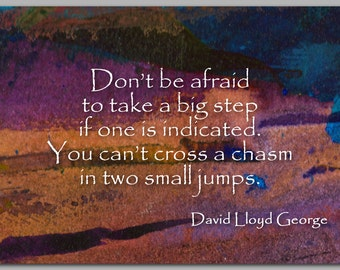 GRADUATION CARD - Quote by David Lloyd George - Also available as a Print or a Quote Block - Great Graduation Gift (CGRAD2013022)