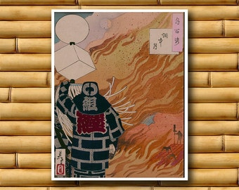Japanese Poster Asian Samurai Art Print Japan Retro Decor (J87)