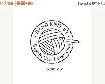 Mothers Day Sale Ball of Yarn Hand Knit By Custom Rubber Stamp AD200