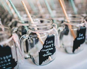 150 MAINE State Chalkboard Labels - DIY Chalkboard Mason Jars, Place Settings, Wedding Favors--All States Available