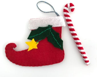 Christmas boot with candy