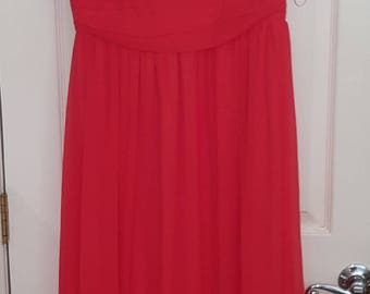 Red Lace Gown SIZE Large