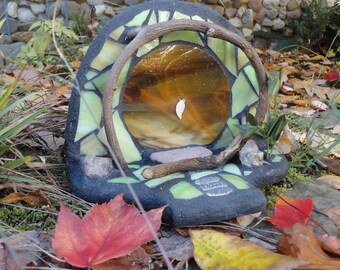 Fairy Door, 3D Sculpture, Stained Glass Mosaic, Diorama, Fairy House, Woodland Sculpture, Home Decor, Fae, Faerie Portal, The Forest Floor