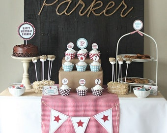 Cowboy Birthday, Cowboy Birthday Party, Cowboy Invitation, Cowboy Printables, Cowboy Decorations, Lauren Haddox Designs