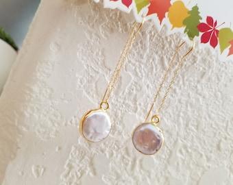 Mother of Pearl Earrings, White, Long Dangle Earring, Beach Wedding Earrings, Bridesmaid Earrings Sister Wife Gift for Her, Mother Gift