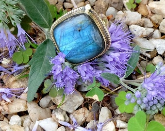 Ring with labradorite - Morpho