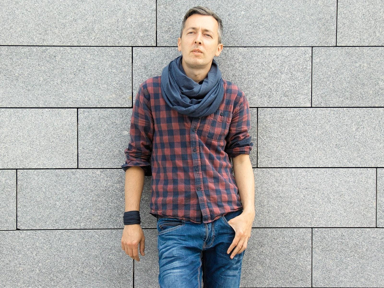 infinity s scarf fur scarves in mens cream men brown products pandemonium faux skinny cobblestone