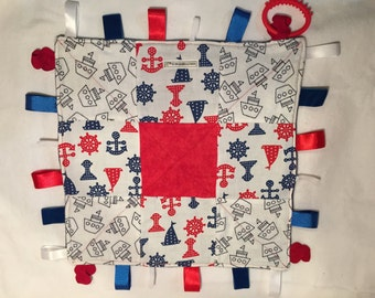 Sails and Anchors Taggie Blankie
