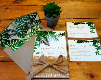 Greenery Wedding Invitation - SAMPLE