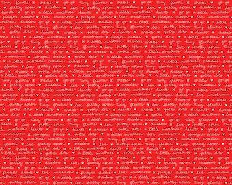A Little Sweetness Red Text by Tasha Noel for Riley Blake, 1/2 yard