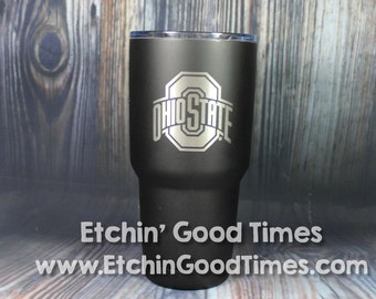 Ohio State Polar Camel 30 oz. OFFICIALLY LICENSED Matte Black Vacuum Insulated Tumbler w/Clear Lid