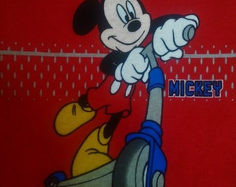 Mickey Mouse - Panel - Heavyweight Poly Knit Fabric.