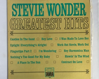 Stevie Wonder GREATEST HITS Record Vintage Vinyl LP Album / 1968 Tamla 282- Motown Sound / Soul Music / Funk / R&B Reocrds