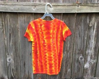 Kids M fire DNA tie dyed tshirt