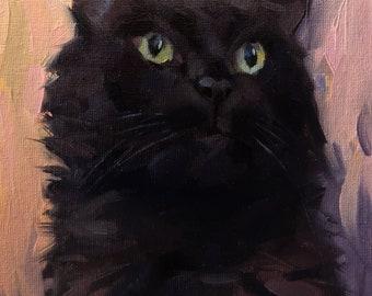 Custom pet portrait, Custom cat painting, Cat portrait, Cat lover, Pet memorial, Animal painting, Original art, Miniature