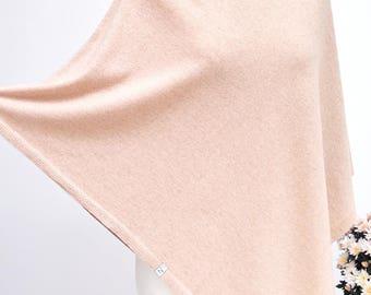 PONCHO wrap, poncho cape, AUTUMN fashion, gift ideas, autumn fashion accessories, poncho S/M size, wool poncho in dusty pink colour