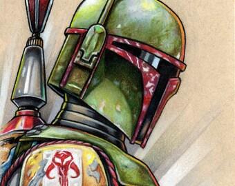 Boba Fett 5x7 Star Wars art print