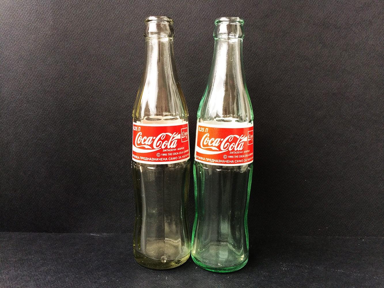 Vintage-Flasche Coca Cola 1995 Made in Bulgarien Kyrillisch