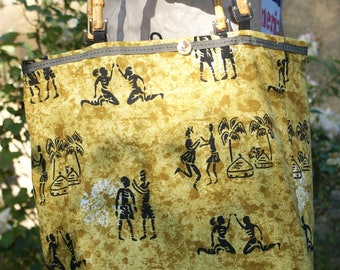 African pattern bag