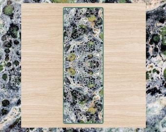 Kambaba Jasper Print Yoga Mat / Crocodile Jasper / Green Stone Design