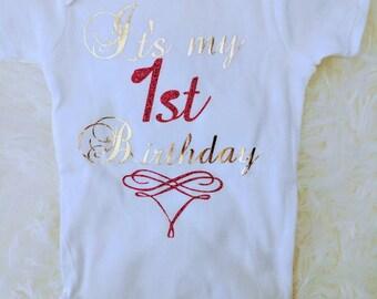 First Birthday onesie