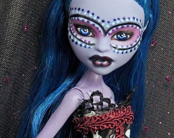 Monster Doll Repaint High Fashion Custom  Voodoo Boo Repainted Dressed Doll OOAK