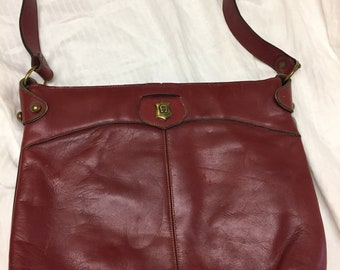 Etienne Aigner Burgundy Leather purse