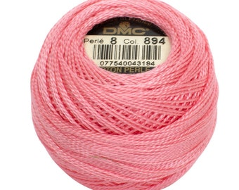 DMC 894 Perle Cotton Thread | Size 8 | Carnation VY LT