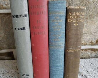 Vintage Book Bundle: History Books