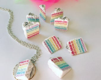 Rainbow Cake Pendant - An International Classic Cake