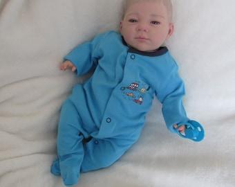 Awake Reborn Baby BOY doll Open Eyes in Blue ... #RebornBabyDollArtUK