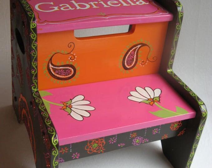 Personalized Step Stool - Gabriella Design