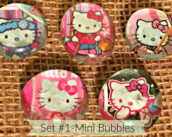 Recycled Glass Bubble Mini Magnets-Hello Kitty (Ready to Ship)