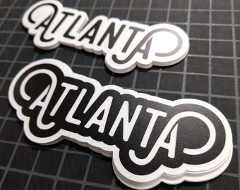 "Atlanta 4.5"" Vinyl Stickers.  Free domestic shipping!"