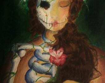 Downloadable Art Printable Dia de los Muertos Sugar Skull