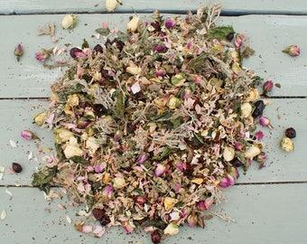 Natural Dried Flowers, Herbs, Potpourri, Petals ROSE GERANIUM BLEND No7