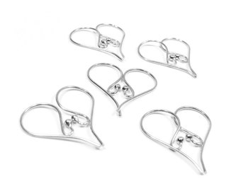 SALE Sterling Silver Earwires Bulk Pricing Ball Tip Bali Artisan 21mm Ear Wires (1, 5, 10, 20, 50 Pair) EW206S