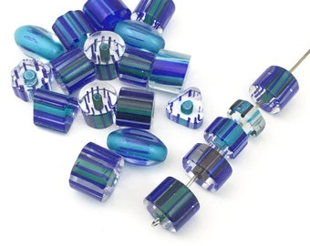 21 furnace glass beads, 8mm to 14mm # PV 040