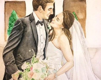 WATERCOLOR WEDDING PORTRAIT - Custom painting