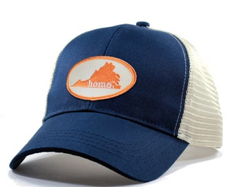 070105aa3d0 Homeland Tees Virginia Home Trucker Hat - Orange Patch