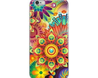 iPhone 6, iPhone 6s Plus, iPhone 6 6s Plus, iPhone 7 Plus, iPhone 8 Plus, iPhone 7, iPhone 8, iPhone X, Abstract Flowers iPhone Case