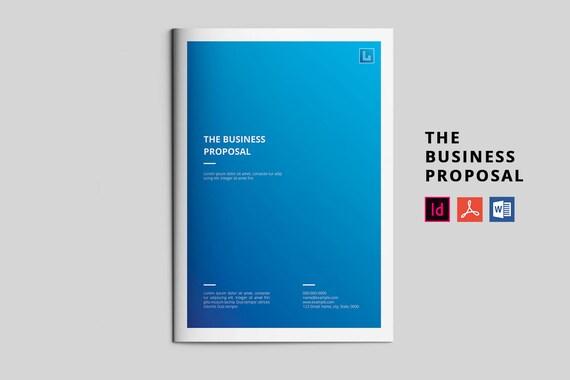 Business-Vorschlag-Vorlage Projekt Vorschlag InDesign & MS