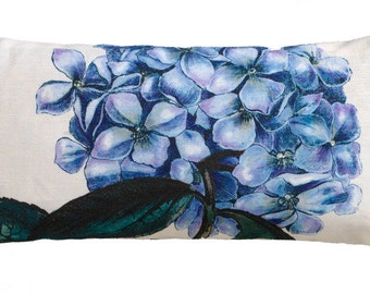 Blue Hydrangea Flower Sachet filled with Lavender