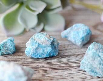 Blue Apatite Raw Stone