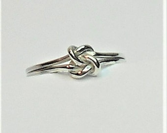 Knot Ring, Silver Knot Ring, Sterling Silver Knot Ring, Love Knot Ring, Sterling Silver Love Knot Ring, Infinity Ring