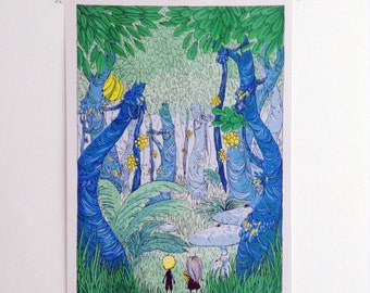Forest - A3 Risograph Print Limited Edition
