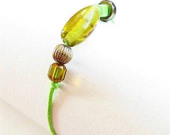 Waxed cotton bracelet 16254