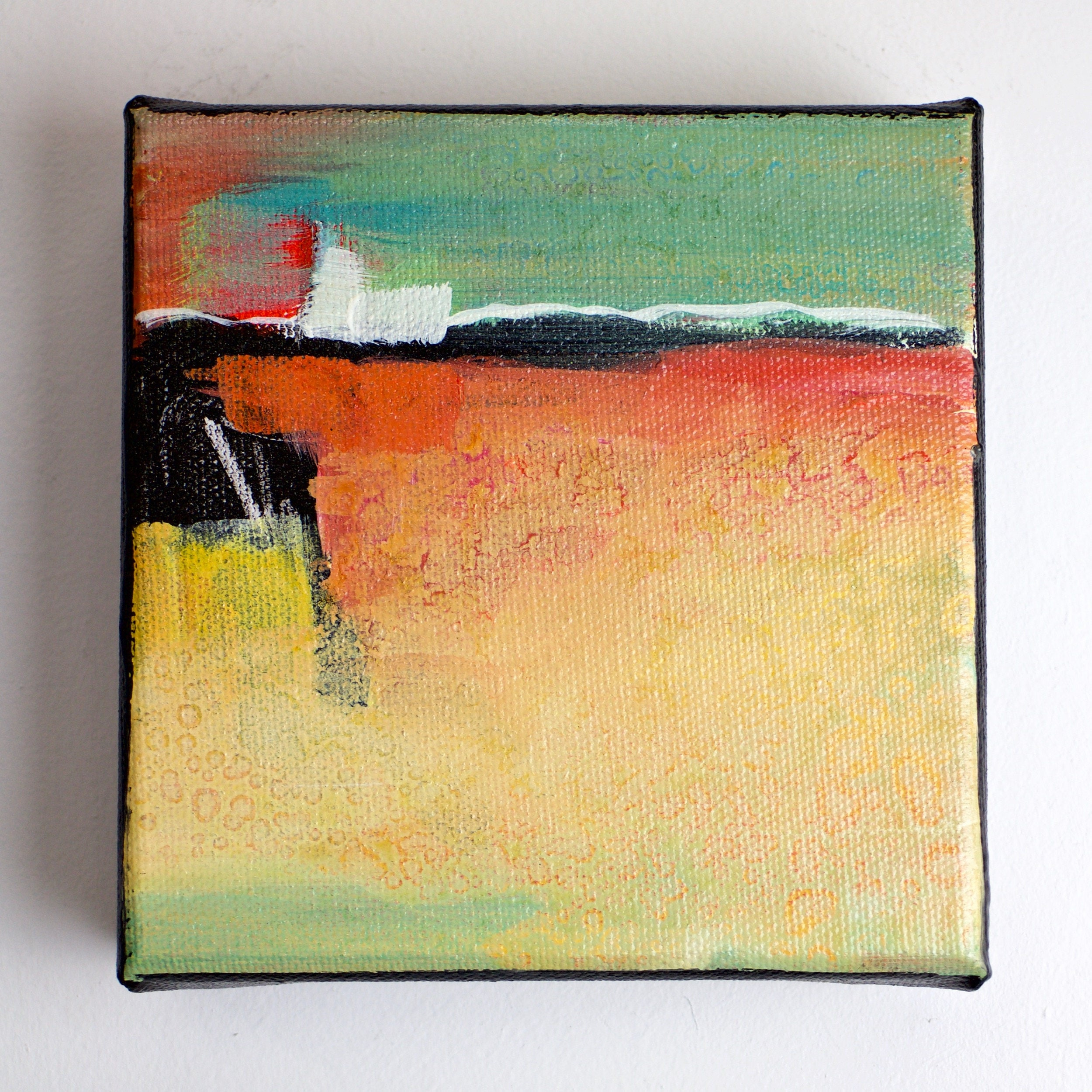 Abstract colorful art/painting on canvas/affordable art/modern