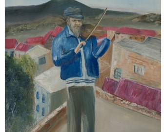 Fiddler on the Roof. High quality print on canvas.